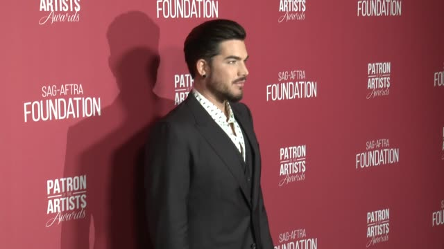 adam lambert at the sagaftra foundation's 3rd annual patron of the artists awards at wallis annenberg center for the performing arts on november 8... - adam lambert stock videos and b-roll footage
