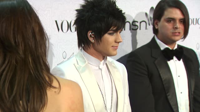 Adam Lambert at the The Art of Elysium's 3rd Annual Black Tie Charity Gala 'Heaven' at Beverly Hills CA