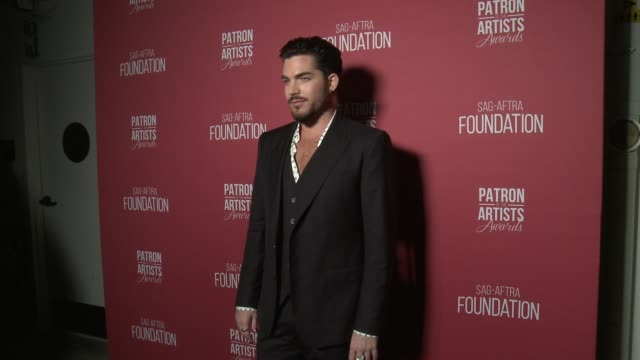 adam lambert backstage at the sagaftra foundation's 3rd annual patron of the artists awards at wallis annenberg center for the performing arts on... - adam lambert stock videos and b-roll footage