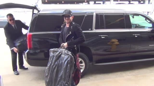 Adam Lambert departing at LAX Airport on October 05 2015 in Los Angeles California