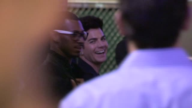 Adam Lambert greets fans departing the American Idol Final After Party in Los Angeles 05/16/17