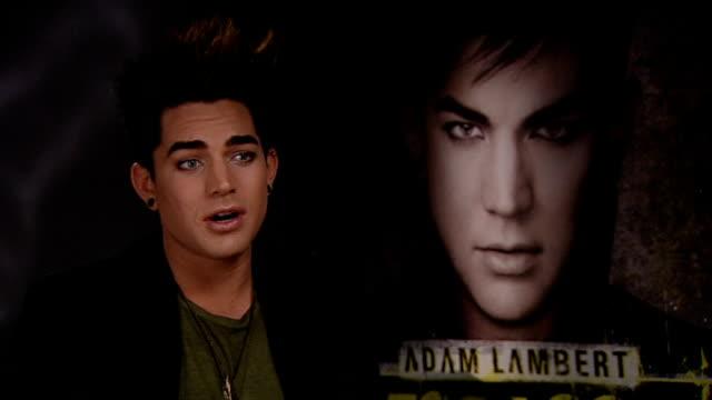 London INT Adam Lambert interview SOT