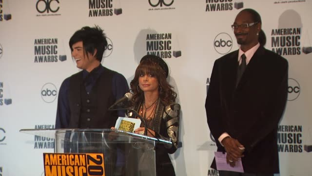 Adam Lambert Paula Abdul and Snoop Dogg announce the 2009 American Music Awards Nominations at the 2009 American Music Awards Nomination...