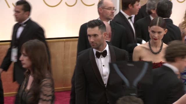 adam levine and behati prinsloo at the 87th annual academy awards arrivals at dolby theatre on february 22 2015 in hollywood california - igneous stock videos & royalty-free footage