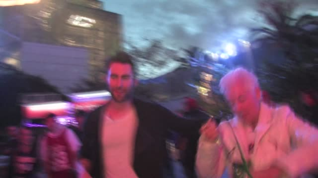 adam levine grandma at the staples center in los angeles - the center stock videos & royalty-free footage
