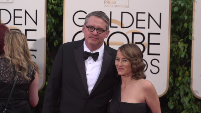 Adam McKay and Shira Piven at 73rd Annual Golden Globe Awards Arrivals at The Beverly Hilton Hotel on January 10 2016 in Beverly Hills California 4K