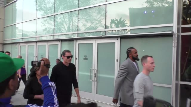 Adam Morrison Ronny Turiaf arriving to see Kobe Bryant's final game at Staples Center in Los Angeles Celebrity Sightings on April 13 2016 in Los...