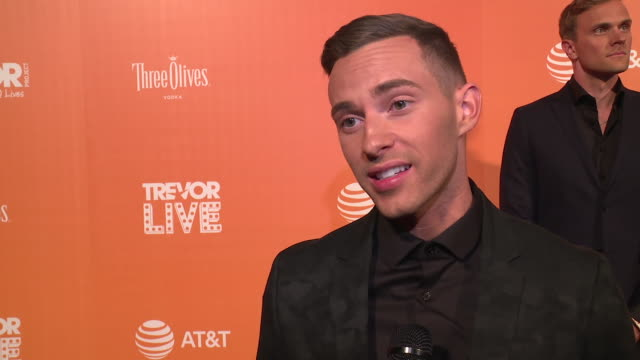 INTERVIEW Adam Rippon talks about how we need organizations like The Trevor Project now more than ever at The Trevor Project TrevorLIVE NY 2018 at...