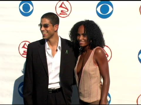 adam rodriguez and ciarra at the 2004 latin grammy awards arrivals at the shrine auditorium in los angeles, california on september 1, 2004. - shrine auditorium stock videos & royalty-free footage