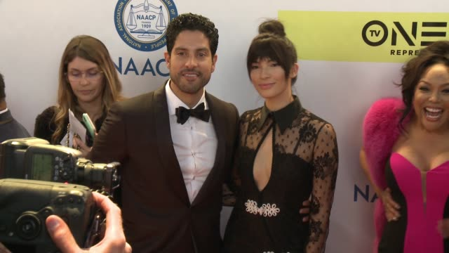 Adam Rodriguez and Grace Gail at 48th NAACP Image Awards at Pasadena Civic Auditorium on February 11 2017 in Pasadena California