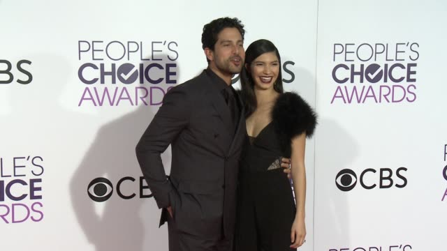 adam rodriguez and grace gail at the people's choice awards 2017 at microsoft theater on january 18 2017 in los angeles california - adam rodriguez stock videos and b-roll footage