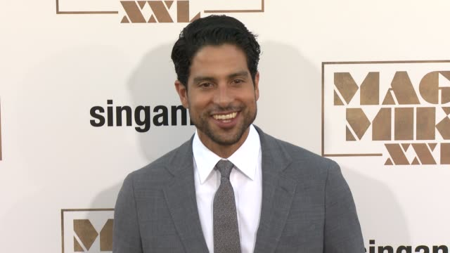 adam rodriguez at the los angeles world premiere of warner bros pictures' magic mike xxl at tcl chinese theatre on june 25 2015 in hollywood... - adam rodriguez stock videos and b-roll footage