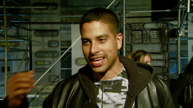 adam rodriguez on the event what he loves about halo when he plays the experience of playing and his current projects at the xbox 360® halo 3 sneak... - adam rodriguez stock videos and b-roll footage