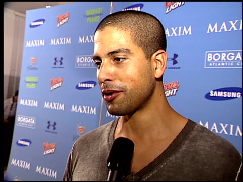 adam rodriguez on what makes the maxim party cool at the maxim celebration of super bowl xli at htel de maxim in south beach florida on february 2... - adam rodriguez stock videos and b-roll footage
