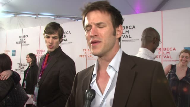 adam rothenberg talking about how doing an independent film compares to a studio film and working with mariah carey at the 7th annual tribeca film... - community college stock videos & royalty-free footage