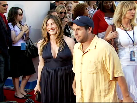 adam sandler and jackie titone at the columbia pictures' and revolution studios' 'click' los angeles premiere at the mann village theatre in westwood... - adam sandler stock videos & royalty-free footage