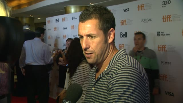 adam sandler at hotel transylvania premiere 2012 toronto international film festival on 9/8/2012 in toronto canada - adam sandler stock videos & royalty-free footage