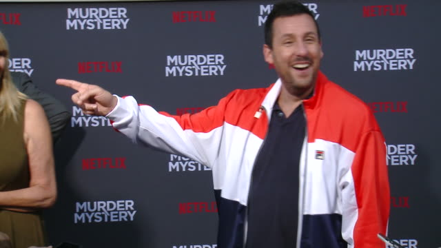 adam sandler at netflix world premiere of murder mystery at village theatre westwood on june 10 2019 in los angeles california - adam sandler stock videos & royalty-free footage