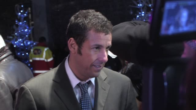 adam sandler at the bedtime stories premiere at london - adam sandler stock videos & royalty-free footage