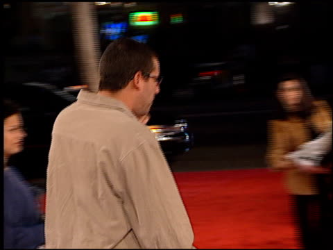 adam sandler at the 'little nicky' premiere at grauman's chinese theatre in hollywood california on november 2 2000 - adam sandler stock videos & royalty-free footage