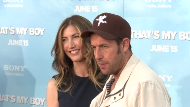 adam sandler at the that's my boy premiere adam sandler at regency village theatre on june 04 2012 in westwood california - adam sandler stock videos & royalty-free footage