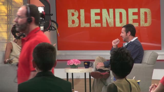 adam sandler being interviewed on the set of the good morning america show in celebrity sightings in new york, - adam sandler stock videos & royalty-free footage