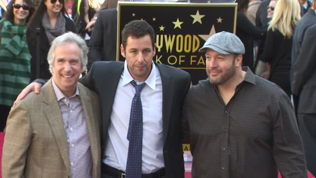 adam sandler honored with a star on the hollywood walk of fame hollywood ca united states 2/1/11 - adam sandler stock videos & royalty-free footage