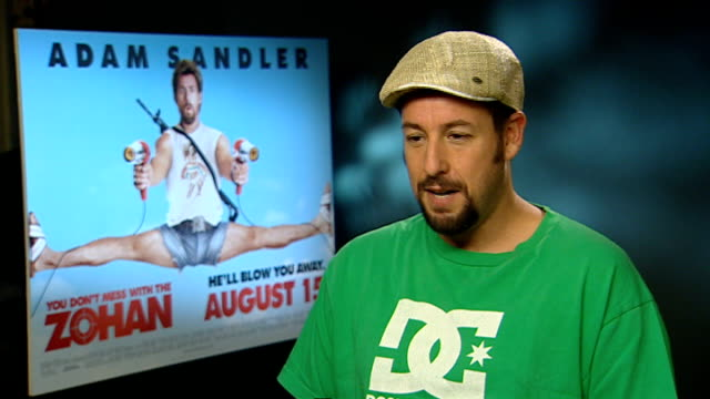 adam sandler interview sot rob schneider interview sot - アダム・サンドラー点の映像素材/bロール