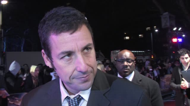 adam sandler on how despite being a celebrity he finds that he prefers to keep to himself and how professionally he surrounds himself with people he... - adam sandler stock videos & royalty-free footage