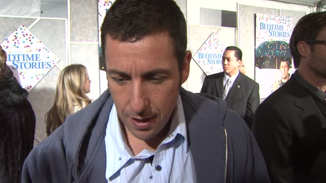 adam sandler on the gumball scene, his character, his favorite scene to play in the film, bedtime stories at the 'bedtime stories' premiere at los... - bedtime stock videos & royalty-free footage