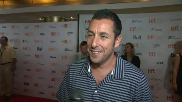 adam sandler on the making of the movie at hotel transylvania premiere 2012 toronto international film festival on 9/8/2012 in toronto canada - adam sandler stock videos & royalty-free footage