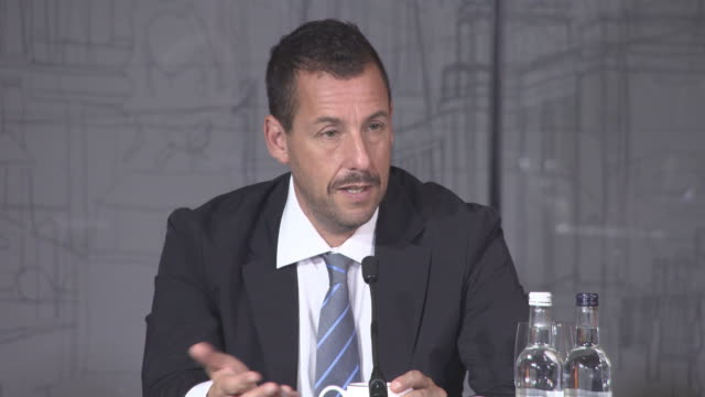 interview adam sandler on working with netflix at 'the meyerowitz stories' press conference 61st bfi london film festival at on october 6 2017 in... - adam sandler stock videos & royalty-free footage