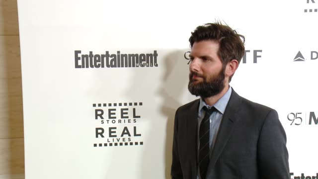 adam scott at 5th annual reel stories real lives benefiting the motion picture television fund in los angeles ca - motion picture & television fund stock videos & royalty-free footage