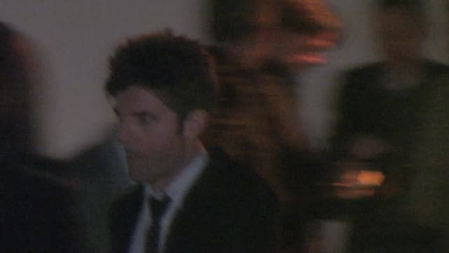 adam scott at pre oscar party in bel air at the celebrity sightings in los angeles at los angeles ca - oscar party stock-videos und b-roll-filmmaterial