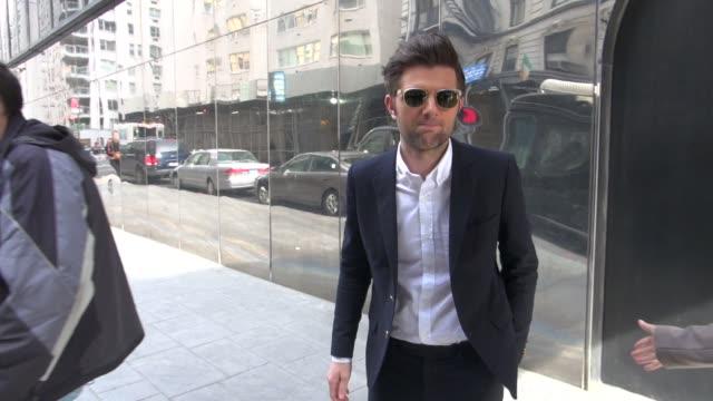 Adam Scott at the 'Good Day New York' studio in New York NY on 3/9/2012