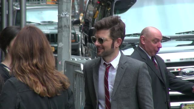 Adam Scott at the 'Late Show with David Letterman' studio in New York NY on 5/14/2012