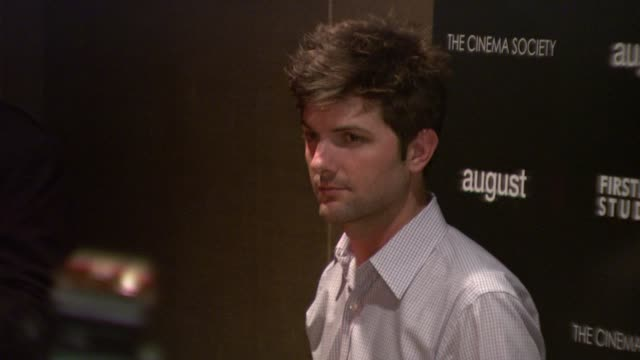 Adam Scott at the The Cinema Society and First Look Studios Host a Screening of 'August' at New York NY