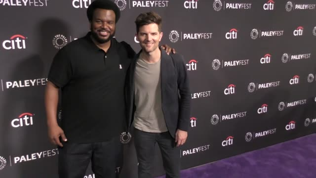 Adam Scott Craig Robinson at The Paley Center For Media's 11th Annual PaleyFest Fall TV Preview of 'Ghosted' on September 13 2017 in Beverly Hills...