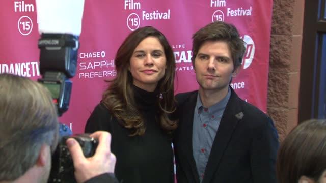 Adam Scott Naomi Scott at 'The Overnight' World Premiere 2015 Sundance Film Festival at Eccles Center Theatre on January 23 2015 in Park City Utah