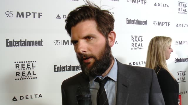 INTERVIEW Adam Scott on the event at 5th Annual Reel Stories Real Lives Benefiting The Motion Picture Television Fund in Los Angeles CA