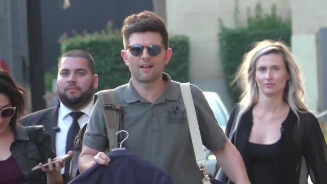 Adam Scott outside Jimmy Kimmel Live in Hollywood in Celebrity Sightings in Los Angeles