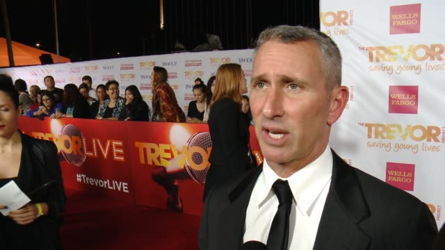 interview adam shankman on supporting the trevor project and on what people can expect this year at 16th annual trevor project benefit presented by... - markenname stock-videos und b-roll-filmmaterial