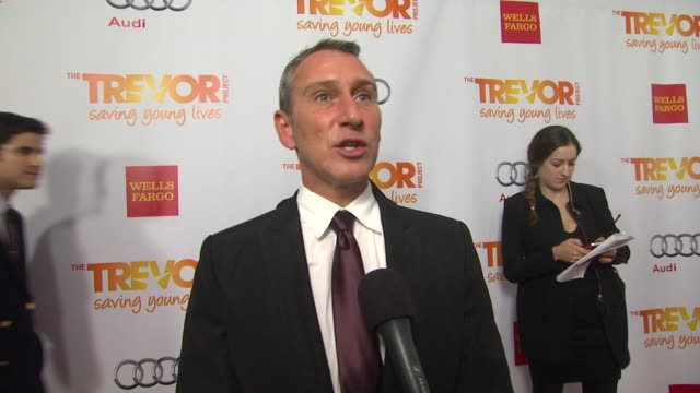 adam shankman on why he supports the trevor project what we can expect from the show and why katy perry is deserving of the trevor hero award at the... - the trevor project stock videos and b-roll footage