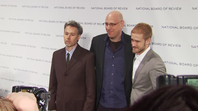 adam yauch oren moverman and ben foster at the 2010 national board of review awards gala at new york ny - oren moverman stock videos and b-roll footage