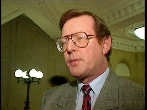 Adams returns from US trip as Major says peace process can not wait for Sinn Fein Westminster CMS David Trimble MP intvw SOT Looking for assembly to...
