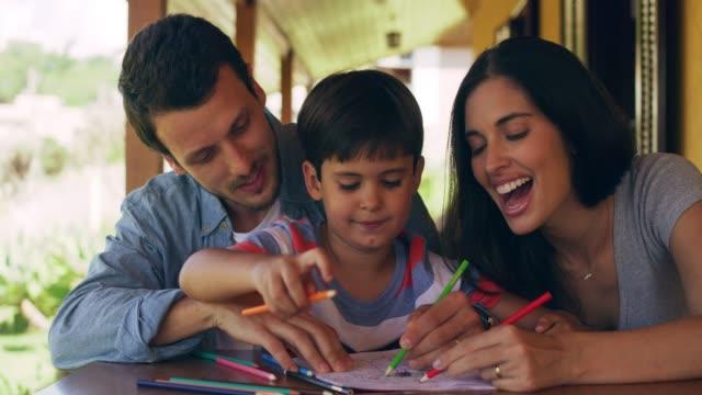 vídeos de stock, filmes e b-roll de adicionar corante em família e você se divertir - livro