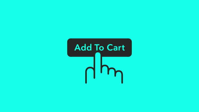 add to cart icons - vector animate - snapping stock videos & royalty-free footage