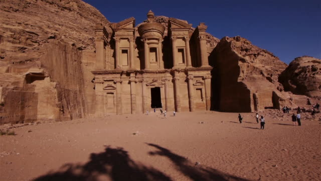 ad-deir monastery in petra, jordan - monastery stock videos & royalty-free footage