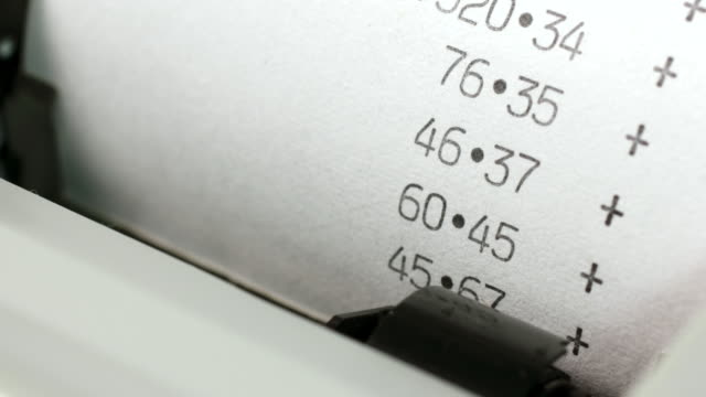 adding machine print out. - accountancy stock videos & royalty-free footage
