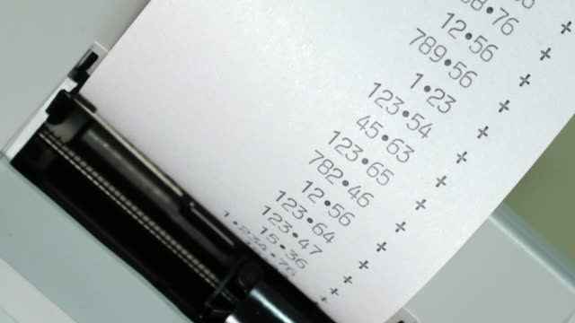 adding machine print out. - receipt stock videos & royalty-free footage